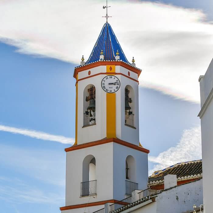 Nuestra Señora de la Encarnación church... rising majestically above Yunquera town centre