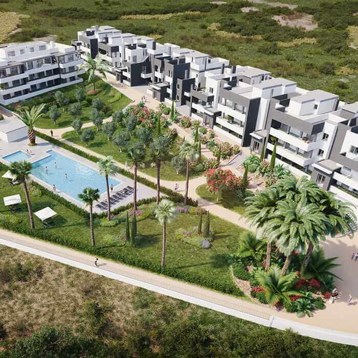 New built apartments for sale in Estepona. Natural environment