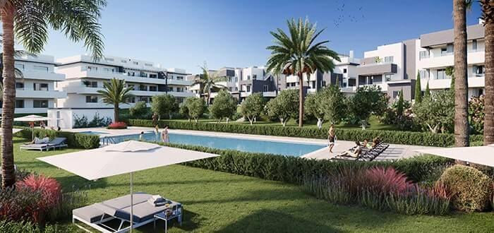 New built apartments for sale in Estepona. Swimming pool