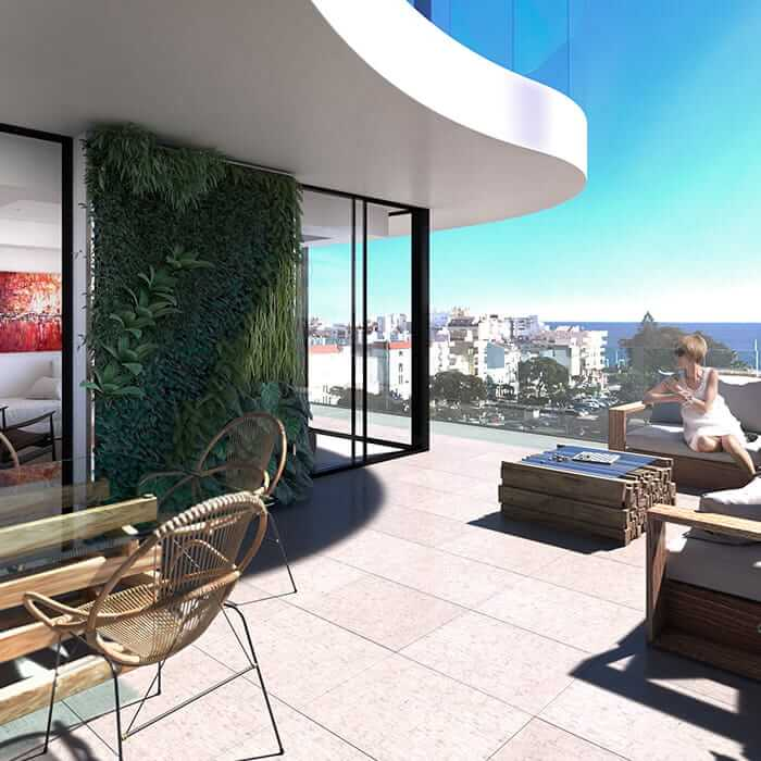 Residencial Infinity terrace with stunning views
