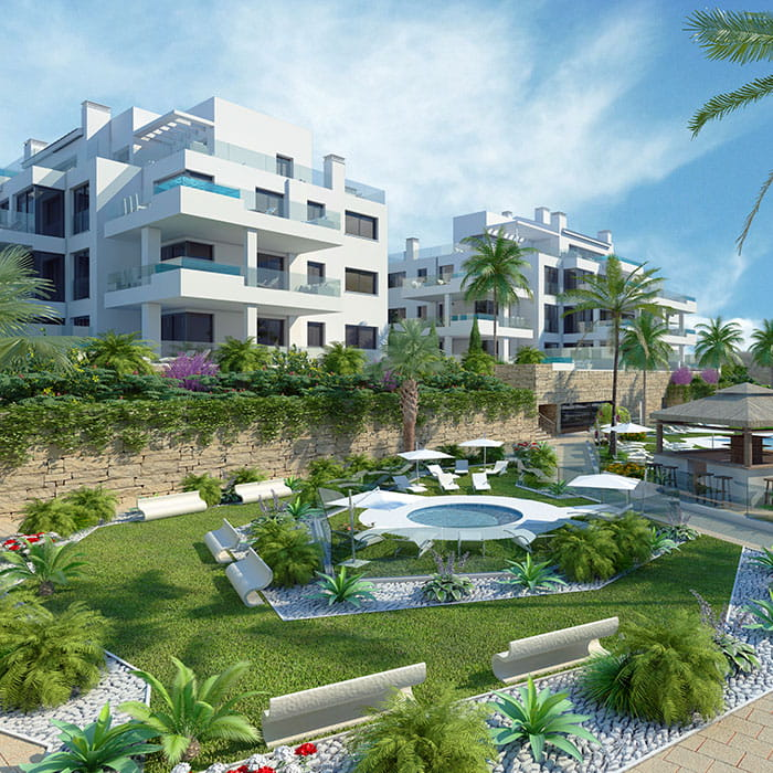State of the art new build apartments in Mijas Costa. Completion in 2019