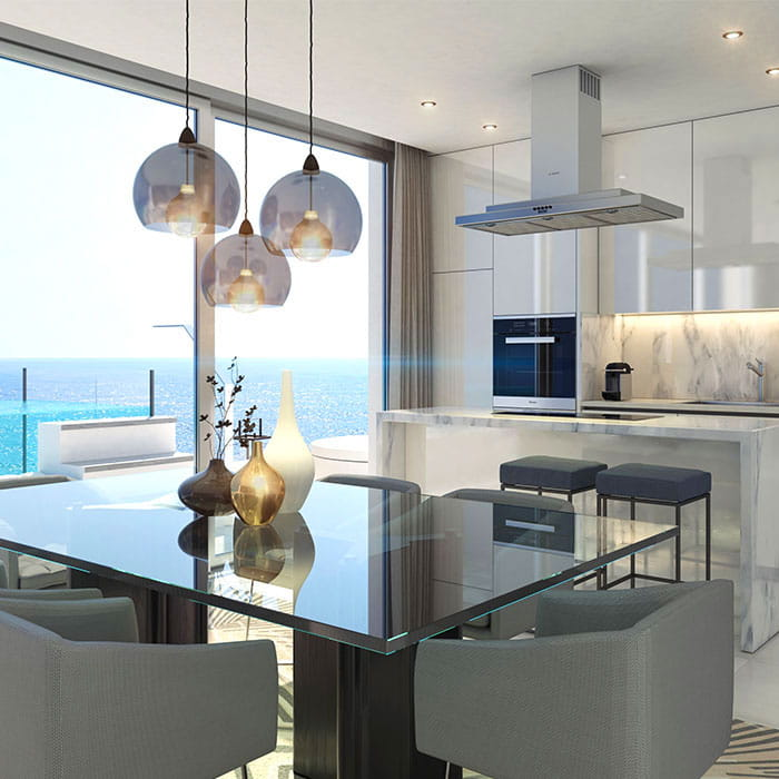 State of the art new build apartments in Mijas Costa. Modern finishings