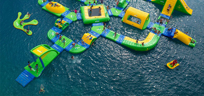 Floating water parks in the Costa del Sol