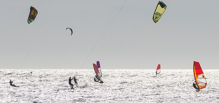 Water sports on the Tarifa coast