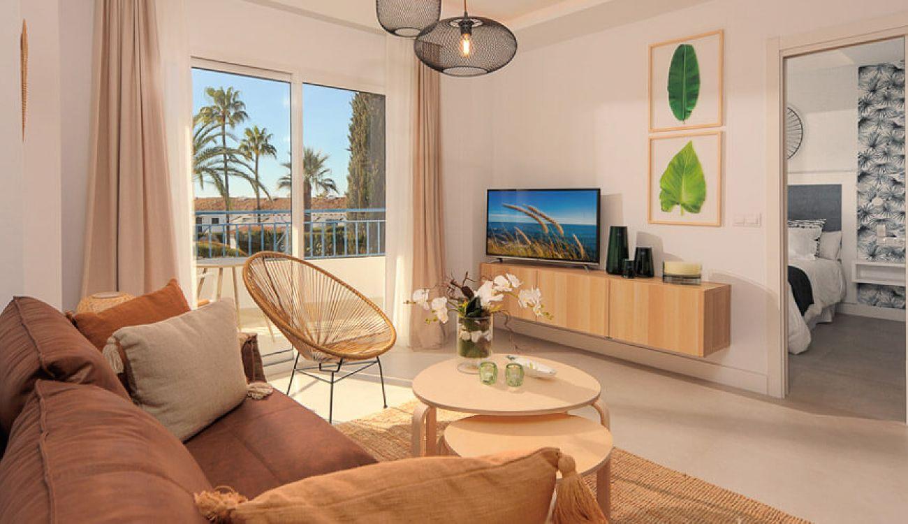 After - La Perla de Riviera living room
