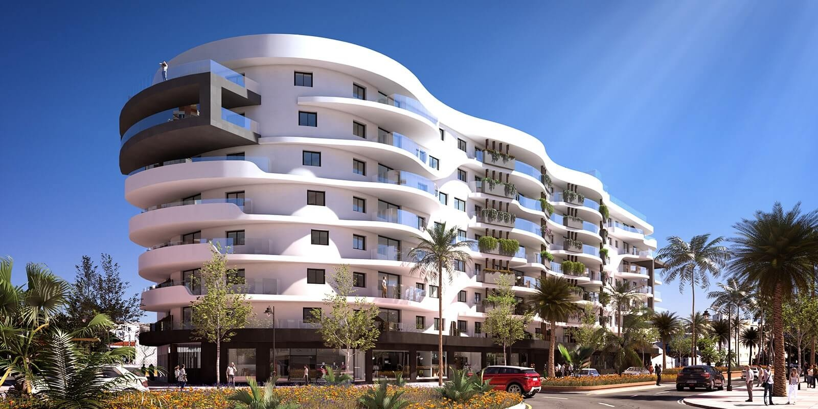 residencial infinity. new build estepona apartments for sale